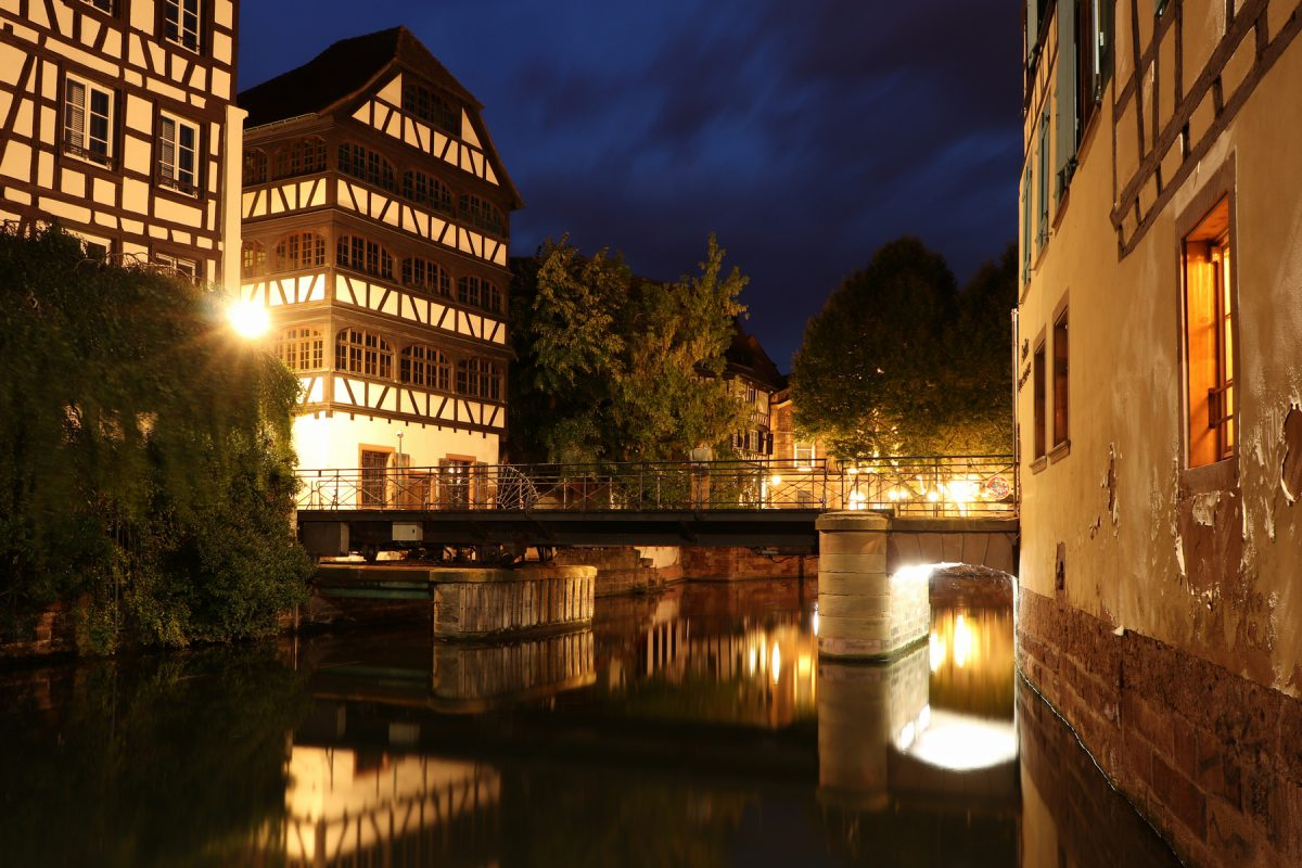 Straßburg Petite France zur blauen Stunde