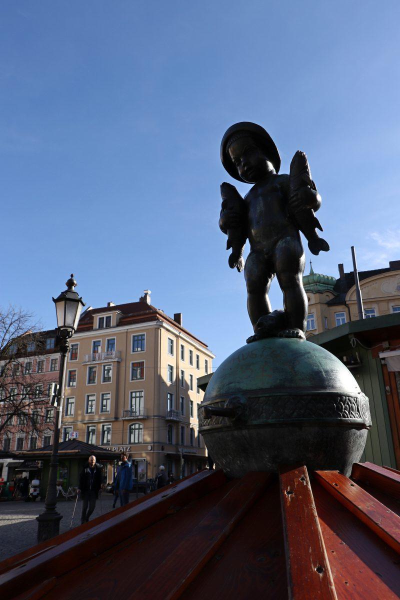 Brunnen am Wiener Platz in München