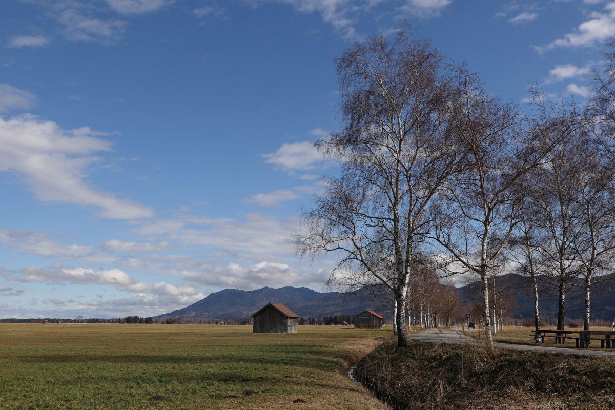Hütten in der Nähe des Kochelsees