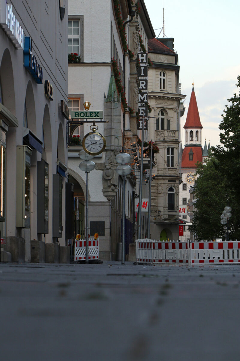 Neuhauserstraße und Kaufingerstraße Fußgängerzone in München