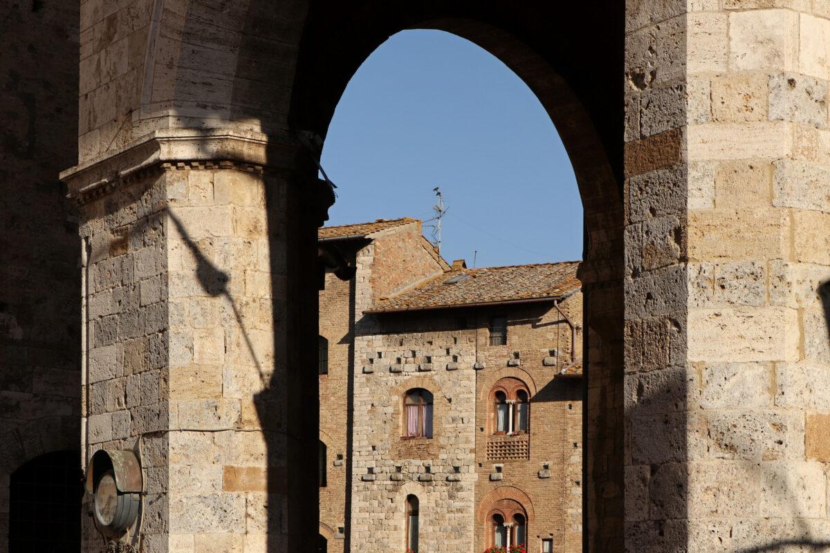 In der Altstadt von San Gimignano in der Toskana