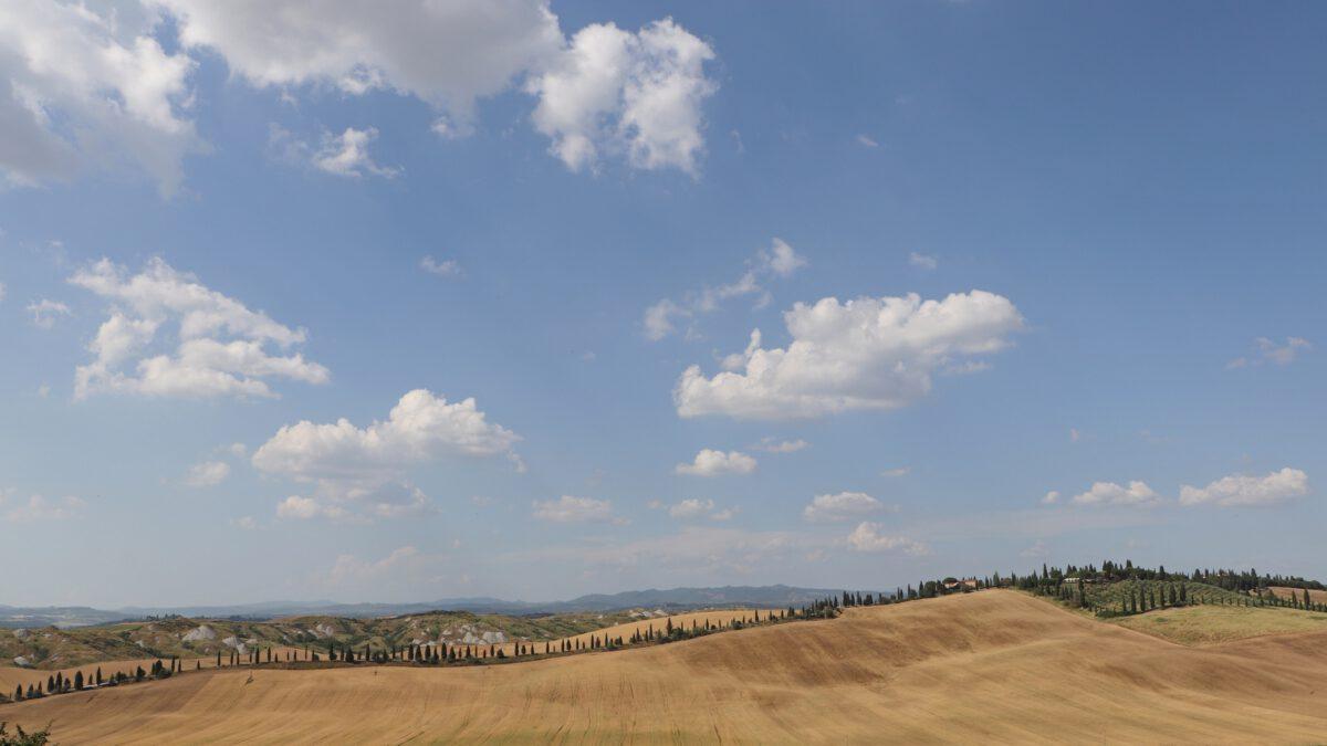 Landschaft in der Crete Senesi in der Toskana