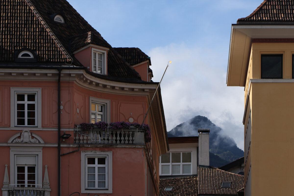 Häuser in der Altstadt von Bozen in Südtirol