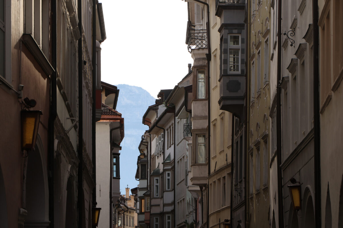 Die Altstadt von Bozen in Südtirol