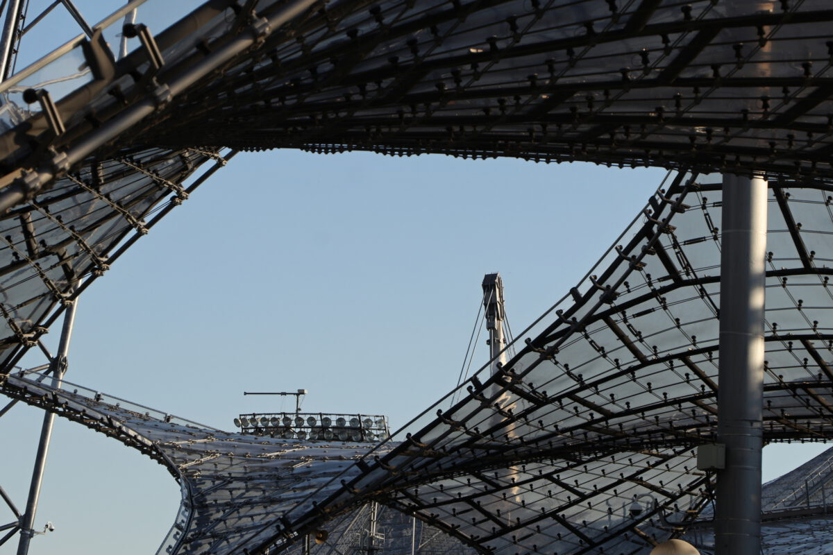 Dachkonstruktion am Olympiastadion in München