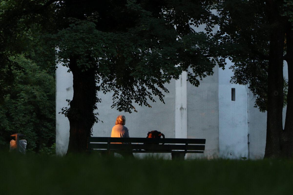 Abendstimmung an der Ukrainischen Orthodoxen Kirche am Isarhochufer in München