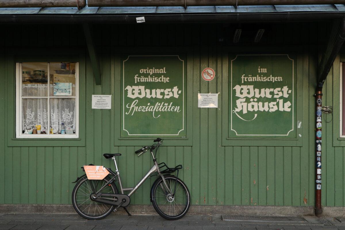 Stand auf dem Viktualienmarkt in München