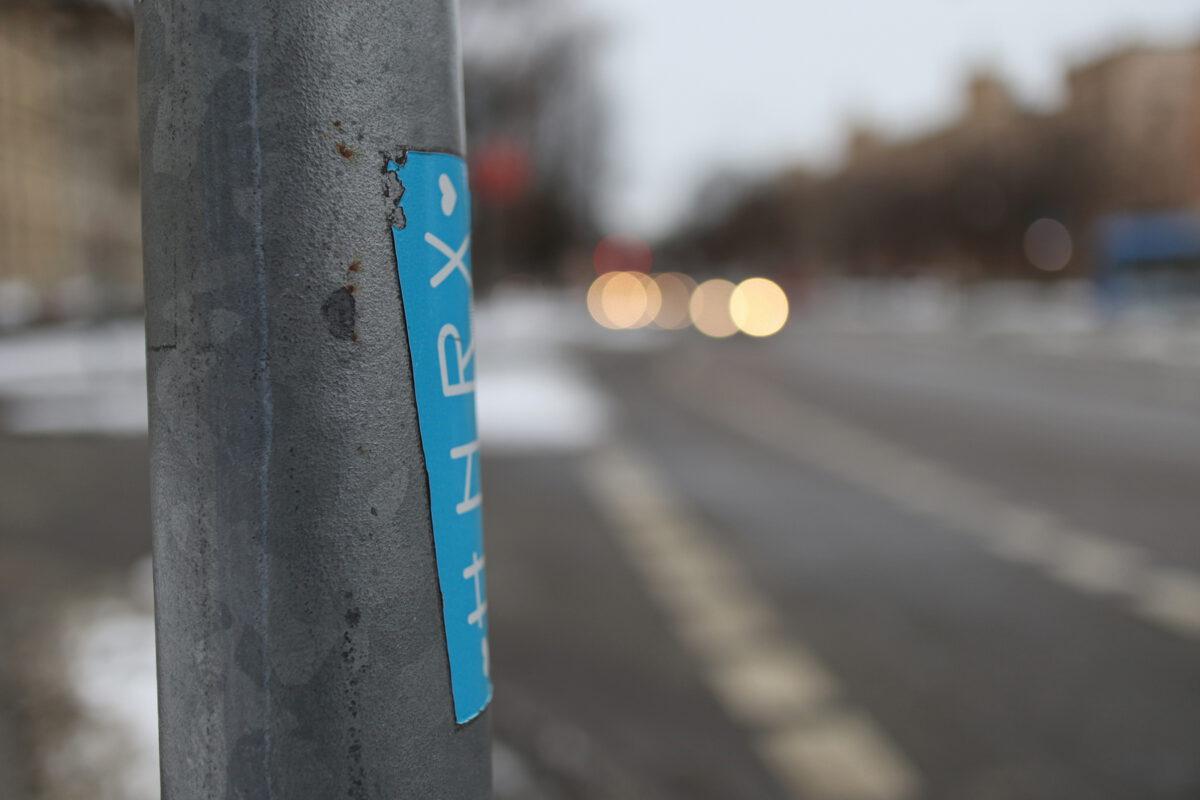 Die Maximiliansstraße in München im Winter