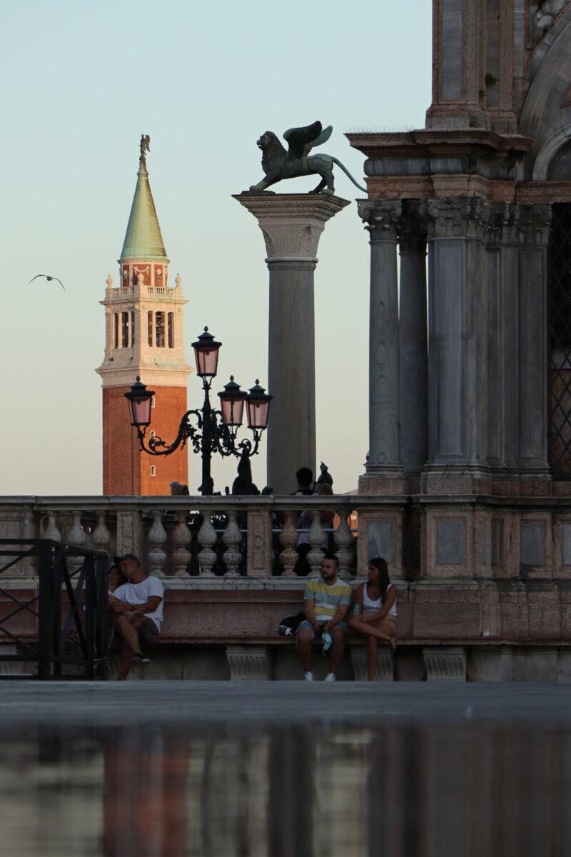 Blick vom Markusplatz in Venedig auf San Giorgio Maggiore