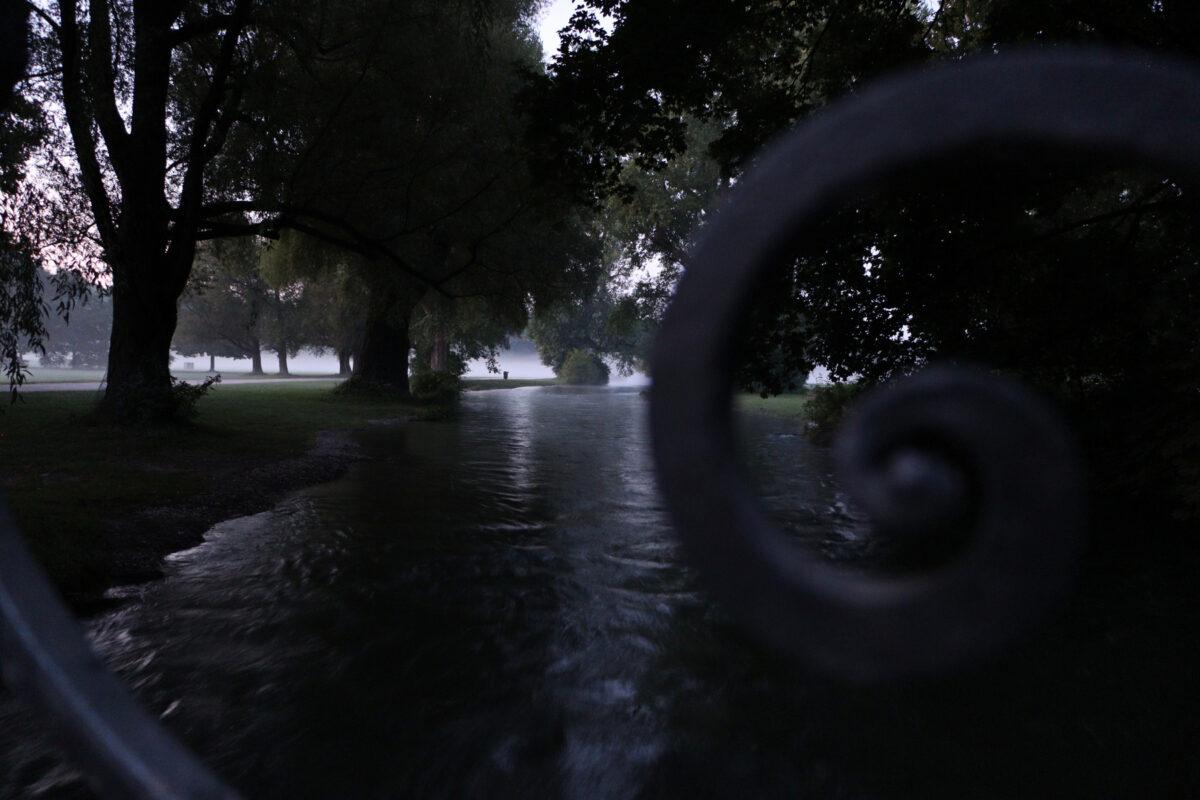 Morgens im Englischen Garten in München