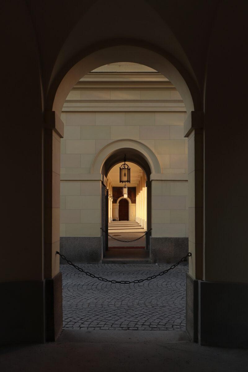 Arkadengang im Hofgarten in München