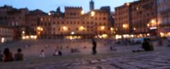 Siena Piazza del Campo zur Blauen Stunde Toskana