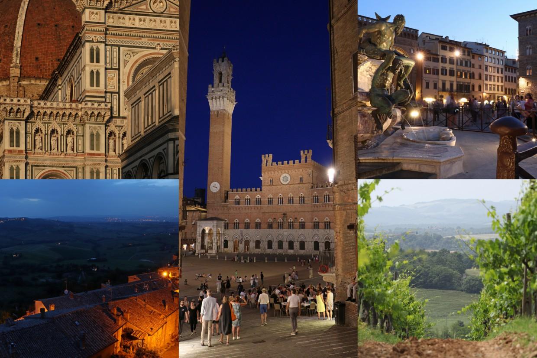 Beitragsbild Toskana Collage Florenz Montepulciano Siena